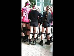 Sexig åsnor sexiga kropps på volleyboll :-)