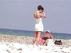 PJ spy på stranden # 5
