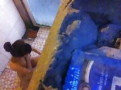 Spionerar på vn flicka dusch