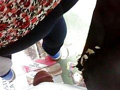 Encoxada milf byxa jeans med gänga