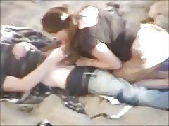 Nakenbad - hot redhead avsugning filmad av voyeur